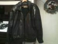 mens large leather jacket zip out fur lining