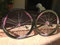 Custom Pink ENVE 45 Carbon Clincher Wheelset