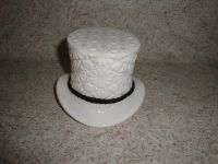 milk glass durby hat