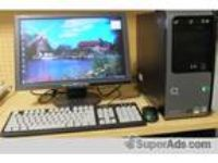 Compaq presario sr5223wm desktop computer, monitor, keyboard mouse