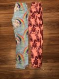 Unicorn leggings from Children s Place size L 10/12 & Bunny/chick leggings from Gap Size L 10. $8 each
