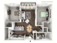Avant Apartments - B2 - Two BR - One BA