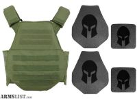 For Sale: AR500 Body Armor & Spartan Swimmers Cut Plate Carrier Package