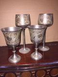 4 SILVER CHALICES