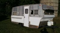 Purchase Vintage 1971 Aristocrat Lo Liner Travel Trailer Camper motorcycle in Union Grove, Wisconsin, United States, for US $1,300.00