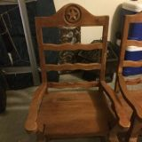 2 hand tooled mexican captains chairs