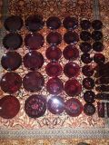 48 pc Antique Ruby Red
