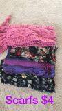 Set of scarves $3 for all or $1 a piece