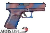 For Sale: Check out the video! New In box limited edition Glock 19 gen4 worn red and blue finish!