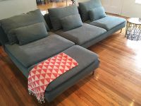 $550, IKEA Chaise Lounge 3-sits greengray color only 6 months old