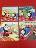EUC! Thomas the Train Puzzles in Wooden Box! Complete!