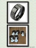 Our Father's prayer Rings black stainless steel for men or women