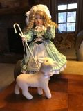 "Ashton-Drake ceramic doll ""Little Bo Peep"" with box"