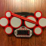Electronic Drum Pads & 2 drum sticks. EUC, 6 New AA Batteries included