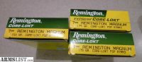 For Sale: Remington Core Lokt 7MM Mag Magnum Ammo, 150 gr, 175 gr, 3 boxes $20 ea