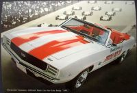 Sell NOS 1969 Chevrolet Camaro SS Indy 500 Pace Car Dealer Postcard motorcycle in Holts Summit, Missouri, United States, for US $19.67