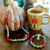 Handcrafted Jewelry - Holiday Style Earrings, Bracelets, and Necklaces