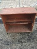 Rolling Cabinet Repurposed Antique Packing Crate