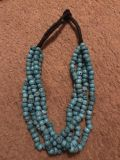 Heavy teal necklace