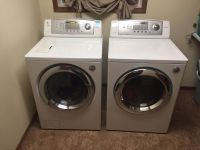 LG front load washer and electric dryer