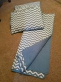 Full or Queen bedspread set ~ Turquoise EUC