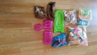 3 BAGS OF BARBIE DOLL ACESSORIES WITH POOL, BOAT AND FURNITURE 1990'S
