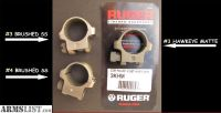 For Sale: LIKE NEW RUGER SCOPE RINGS