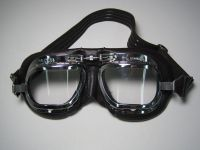 Sell Halcyon UV lens Mark 410 Brown Goggles Made in England riding motoring aviator motorcycle in Santa Clarita, California, US, for US $95.00