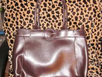 Emilie M Brown Leather Hand bag