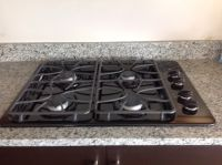 "GE 30"" Gas Cooktop - Black"