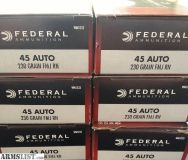For Sale: Federal Champion BRASS 45 ACP