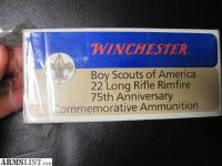 For Sale: Boy Scout .22 ammo Full Brick of 10 boxes 1985 Winchester