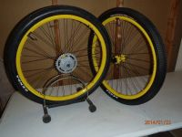 26 Xero Flick rims with tires and tubes (Yellow)