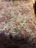Custom made King quilted bed spread