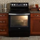 "Whirlpool Gold 30"" Freestanding Electric Convection Oven Range Black"