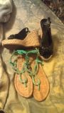 Cute womens wedges and sandals, fit sz 8