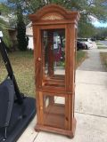 Lighted curio cabinet with 5 shelves