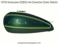 Purchase KAWASAKI PAINT 1976 KZ900 A4 DIAMOND DARK GREEN RESTORATION PAINT BEST COLOR motorcycle in Marinette, Wisconsin, US, for US $159.95