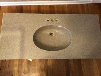 Bathroom vanity top. 48 x 22 with 4 holes for faucet. $45.00.
