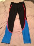 Small running tights with zipper back pocket