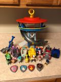 Paw patrol lot-Tower, vehicles, Figures.