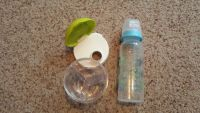 Travel formula container and bottle