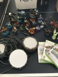 3 Skylanders Xbox360 games and figures