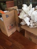 Moving boxes with clean paper