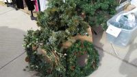 Large wreath $8 smaller one $5