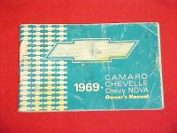 Buy 1969 CAMARO CHEVELLE NOVA SS RS ORIGINAL OWNERS MANUAL SERVICE GUIDE 69 1ST ED. motorcycle in Leo, Indiana, US, for US $24.99