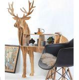 "$69.9  80%  discount 44.5"" Reindeer coffee table wood furniture self-build puzzle furniture"