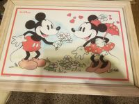 Disney framed pictures Mickey aznd Minnie Mouse
