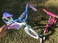FREE! Girls Frozen bike and Razor pink scooter for little girls