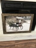 Beautiful wood framed winter picture